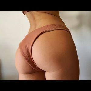 vix | the label Swim - Light Orange Bandeau Bikini